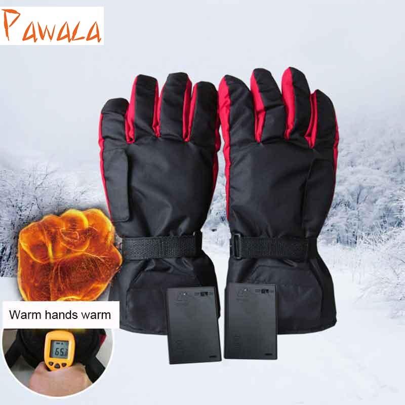 <font><b>Winter</b></font> Thermal <font><b>Gloves</b></font> Warmer Sport Cycling Motorcycle Bicycle Ski <font><b>Electric</b></font> <font><b>Glove</b></font> <font><b>Waterproof</b></font> Battery <font><b>Heated</b></font> Men Women