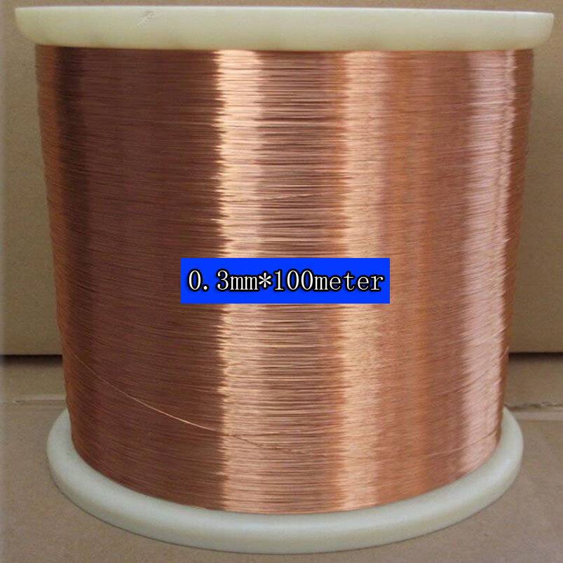 0 3 mm 100m pc QA 1 155 New Polyurethane Enameled Wire Copper wire in Wires Cables from Lights Lighting
