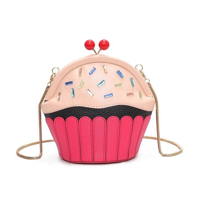 Cupcake Bag Of Ice Cream Design Women Messenger Bags Fashion Chain Shoulder Funny Crossbody S Summer Bao