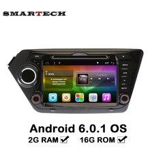 SMARTECH 2Din 2G RAM Android Reproductor de CD de Coche para Kia K2 Rio 2010 2011 2012 2013 2014 2015 GPS de Navegación 1024*600 Reproductor de Vídeo Del Coche