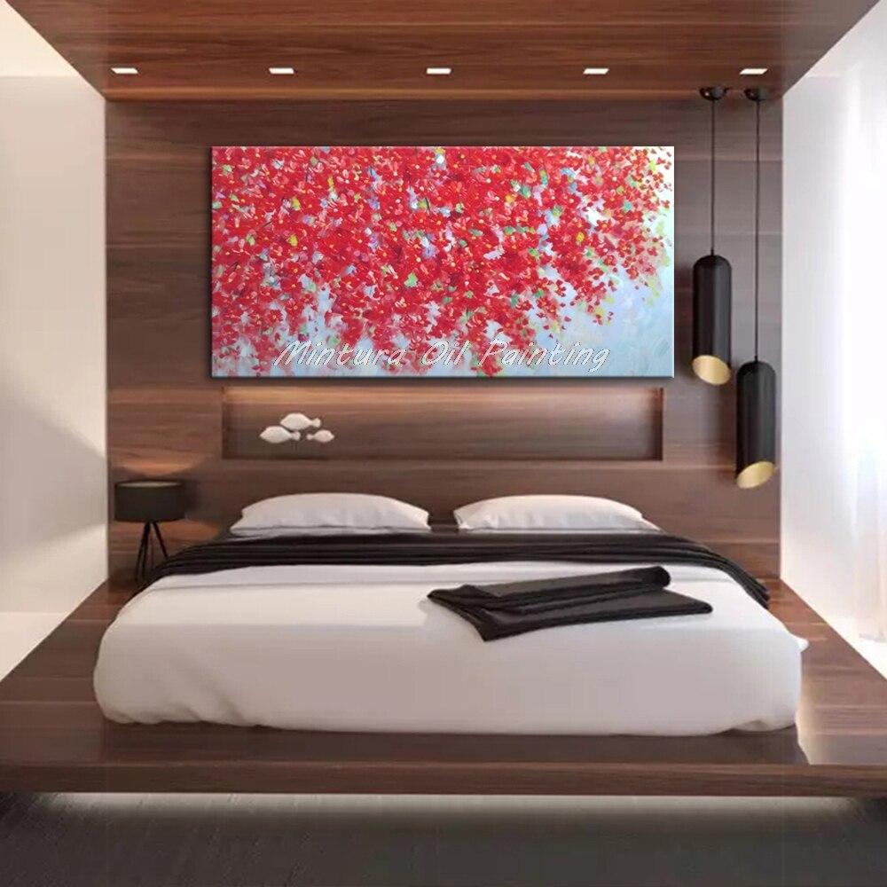 Mintura ручная роспись цветы и дерево Рисование современные картины маслом на холсте настенные картины для гостиной домашний Декор без рамки - Цвет: MT161447