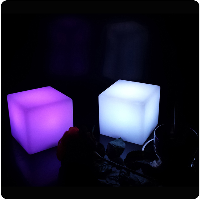 7 Color Changing D10cm ABS Decorative Cordless Cube Design Led Restaurant Table  Lamps Free Shipping 1pc In LED Night Lights From Lights U0026 Lighting On ...