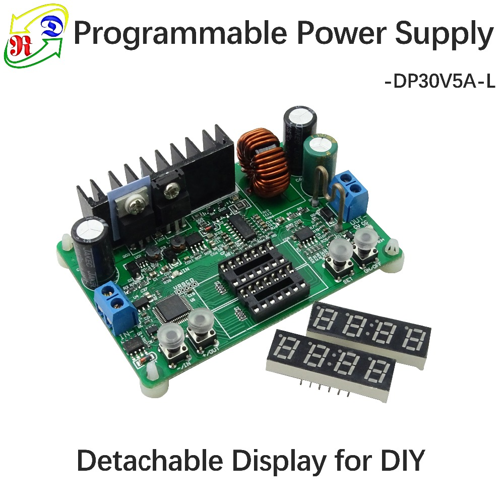 Buy Rd Dp30v5a L Constant Voltage Current Step Down Powersupply Programmable Power Supply Module Buck Converter Regulator Led Display From