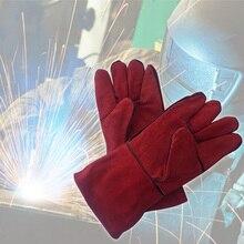 Leder Schweißen Handschuhe Wärme Beständig Arc Tig Mig Heavy Duty Schweißer Handschuhe Sicherheit Schutz Garten Kamin Grill Handschuhe
