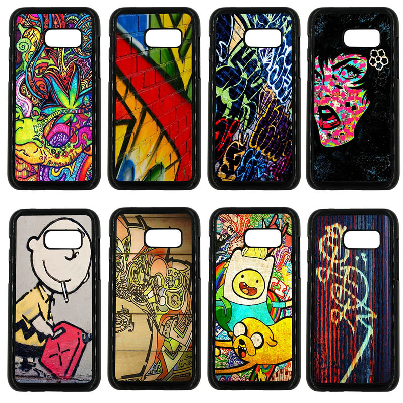 Specific Character Graffiti Art Phone Cases Hard PC Cover for Samsung Galaxy A3 A5 A7 A8 2015 2016 2017 2018 Note 8 5 3 2 Shell