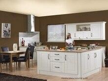 PVC/vinyl kitchen cabinet(LH-PV068)