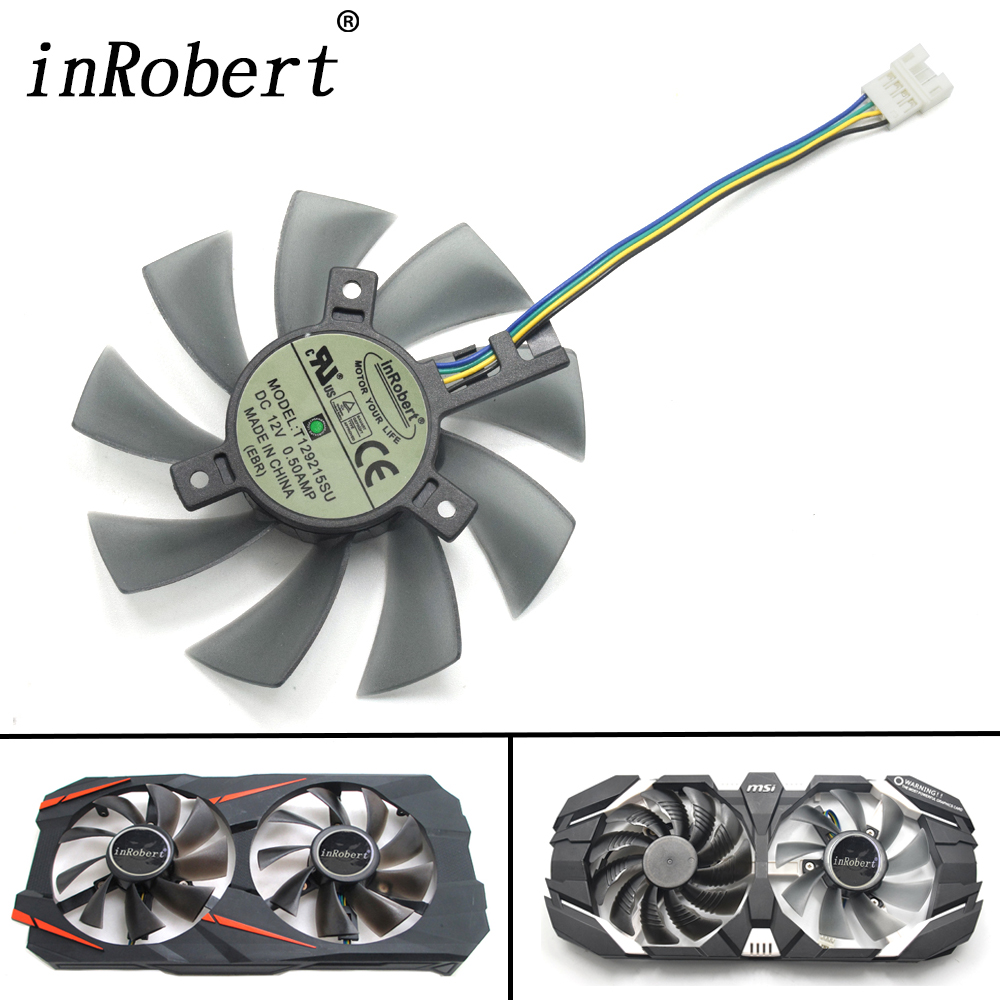 DIY 85MM T129215SU 4Pin Cooler Fan For MSI Gigabyte GeForce GTX 1050 Ti 1070 RX 480 470 570 580 GTX 1060 G1 P106 Graphics Card