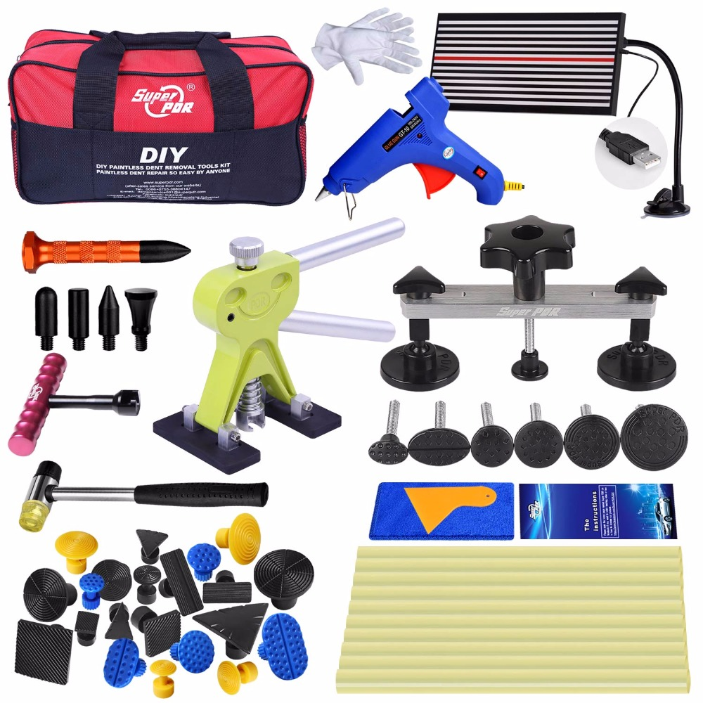 Car dent repair tools hail dent removal Repair Reflector Board Dent Puller Glue Tabs best PDR Tools Kit цена