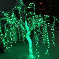 New 1.2m 4ft Height LED Crystal Willow Tree Light 336pcs LEDs Green Color Rainproof outdoor Christmas new year wedding decor
