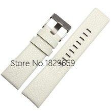 22 mm 24 mm 26 mm 28 mm 30 mm nueva alta calidad del cuero blanco genuino correas de reloj correa pulseras