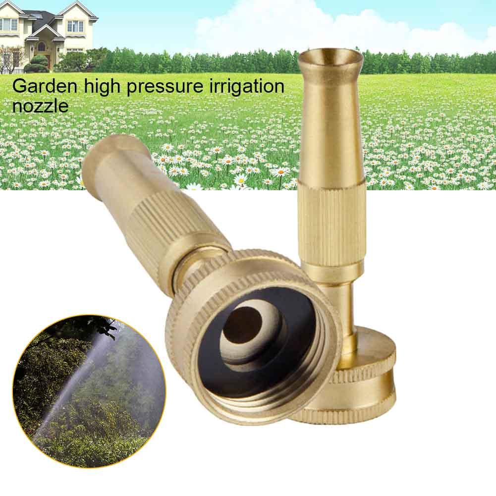 Irrigation Nozzle Brass Adjustable High Pressure Hose Spray Head For Garden Lawn 2018ing