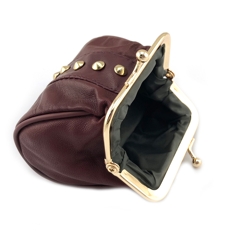 BELLO TUTTI Genuine Leather Coin Purse Women Coin Wallets Metal Farme Small Change Purse Mini Coin Purse Women Bag