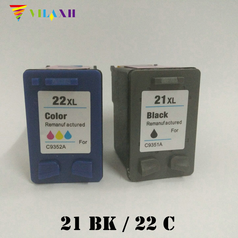 46b6a51068cc2e Vilaxh 21 and 22 xl Compatible Ink Cartridge Replacement for HP 21xl 22xl  For Deskjet F2280
