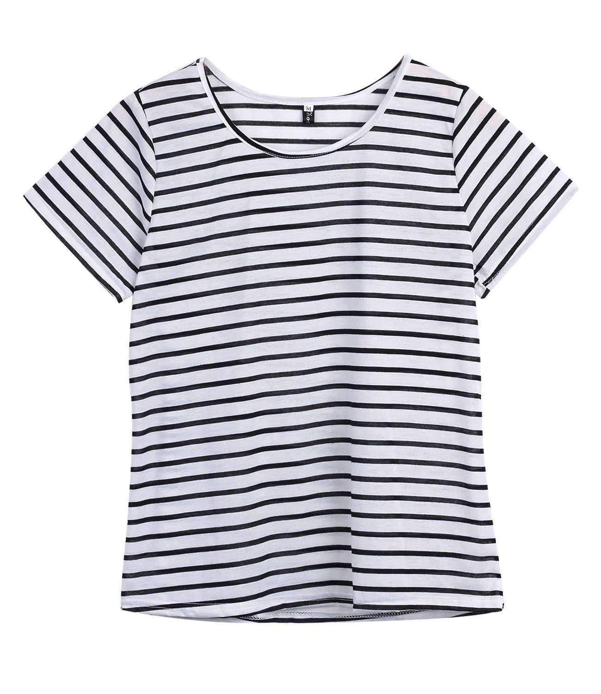 오피스 숙녀 여성 여름 긴 소매 오 넥 캐주얼 니트 스트라이프 티셔츠 스웨터 카디건 코트 스트라이프 레귤러 탑