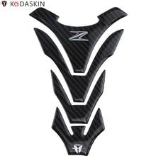 KODASKIN Motorcycle Carbon Tank Pad Stickers for KAWASAKI Z800 Z900 Z1000 Z750 Ninja1000 Z250 Z300