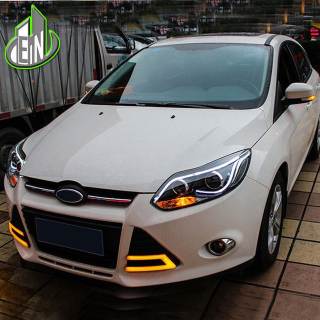 Car Styling Led For Ford Focus Headlights 2017 Tlz 3 Headlight Drl Bi Xenon Lens High Low Beam Parking Fog Lamp