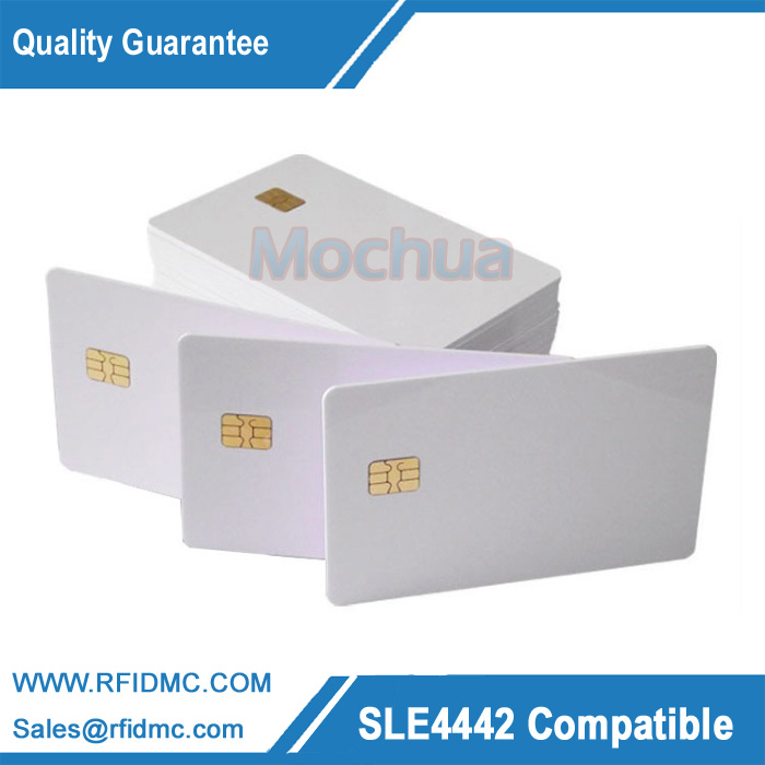 Contact SLE4442 Chip ISO7816 PVC Smart IC Card -10pcs free shipping 10pcs cm2719a fsa0ac315eaf2 lcd ic chip