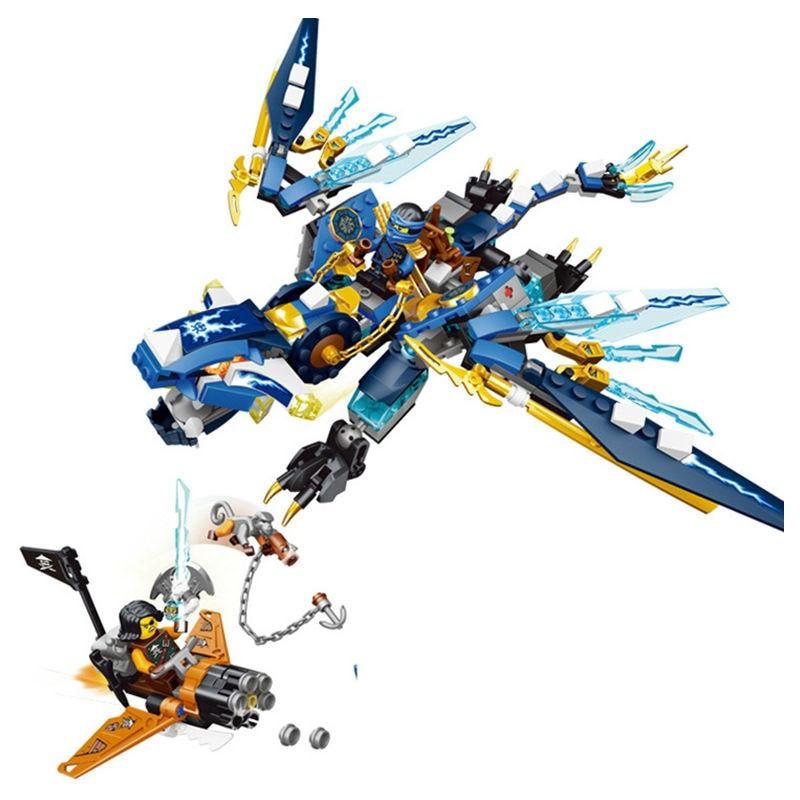 06027 Jays Elemental Dragon Ninjagoed Marvel Ninja Building Block Kits Toys Mini blocks Compatible With LEGOes For Boys Gifts