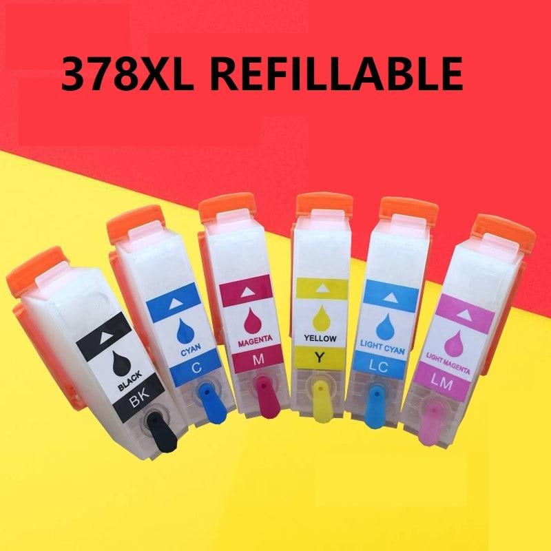 XIMO Vide cartouche dencre Rechargeable 378 T3781/T3791 pour epson 378/378XL fonctionne avec xp-8500 XP-15000 XP-8505XIMO Vide cartouche dencre Rechargeable 378 T3781/T3791 pour epson 378/378XL fonctionne avec xp-8500 XP-15000 XP-8505