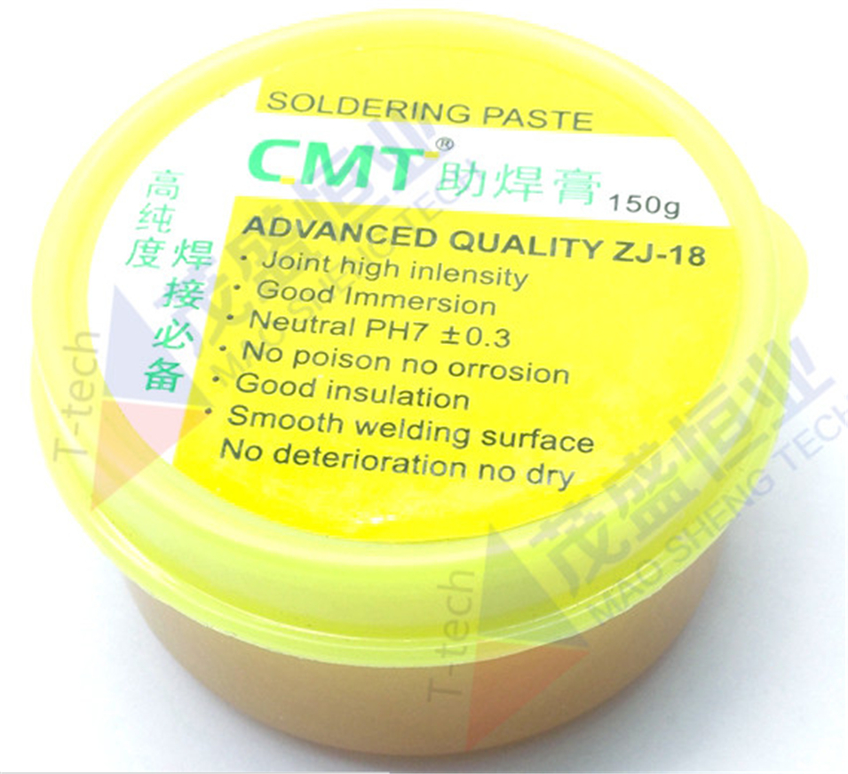 Free Shipping NT ZJ-18 150g Yellow Paste Advance Quality Solder Flux Soldering Paste High Intensity Free Rosin