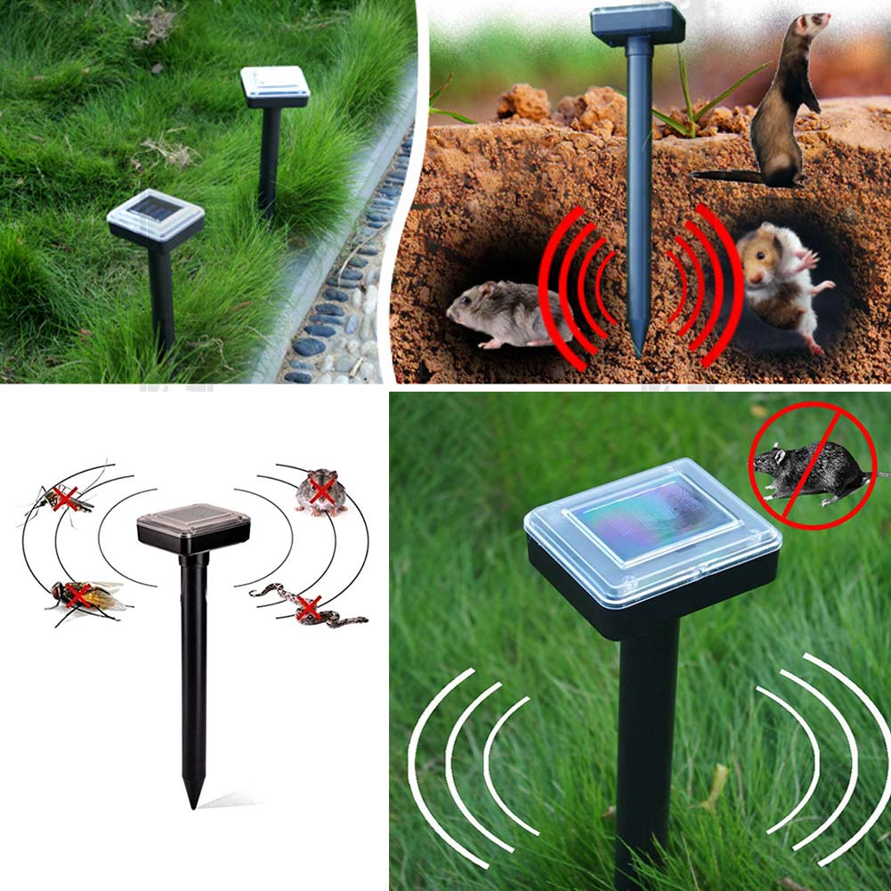 Dropshipping New Solar Powered Ultrasonic Sonic Mouse Mole Pest Rodent Repeller Repellent Control for Garden Yard MDP66(China)