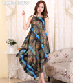 Das Mulheres do vintage Impresso Spaghetti Strap Nightgowns Verão Novas Cuecas de Cetim Flor Vestido Vestido Sexy Sleewear One Size NR005