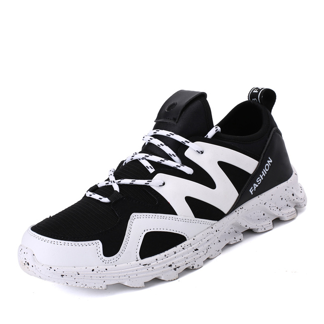374ace8028cf2 New Men Casual Shoes Elastic Fabric Breathable Massage Shoes lace-up Men  Zapatos Flats Balance Shoes Men Sapatos Chaussure Homme