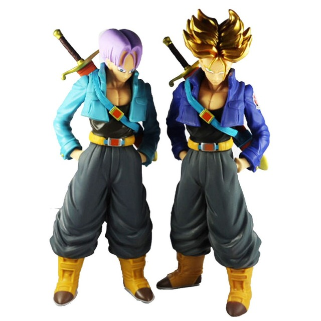 dragon ball z dbz super saiyan trunks action figure blond hair
