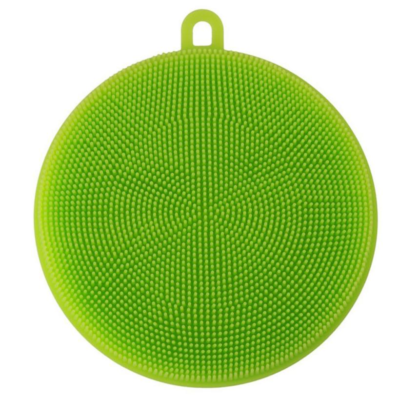 New Qualified Dropship Silicone Dish Washing Sponge Scrubber Kitchen Household Cleaning antibacterial Tool Sep18