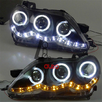 LED Lens Angel Eyes Headlights For TOYOTA Reiz Mark X 2005 2009