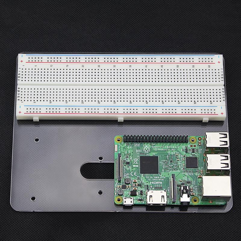 Raspberry Pi Acrylic Mounting Platform M102 Bread Board Experiment Board For MEGA 2560 | UNO R3 | Raspberry Pi 4 Model B/3B+/3B