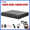 LOFAM Главная видеонаблюдения 16-канальный DVR HD ЭН 1080N 720 P безопасности CCTV DVR рекордер HDMI 1080 P 16 канала автономный БЕСПРОВОДНОЙ AHD DVR NVR