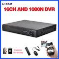 LOFAM 1080N 16ch DVR HD AHD 720 P de segurança de vigilância Em Casa CCTV gravador DVR HDMI 1080 P AHD DVR NVR standalone 16 canais WI-FI
