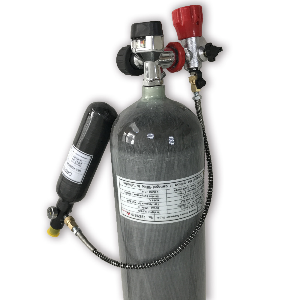 AC16820161035 6.8L CE réservoir de plongée sous-marine Airforce Condor recharge gaz cylindre régulateur Paintball pistolet Air comprimé gaz Valve