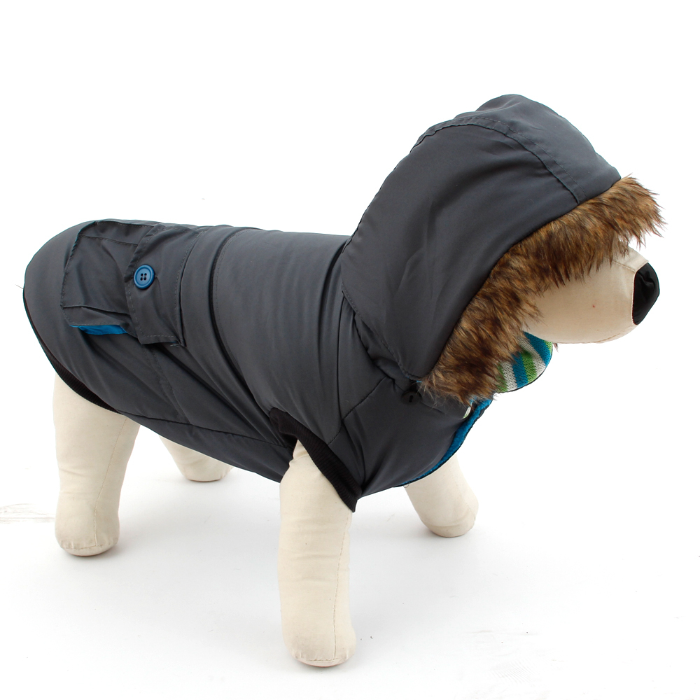 애완 동물 강아지 개폐식 후드 의류 겨울 따뜻한 의류 강아지 코튼 코트 고양이 패딩 코트 퀼트 자켓 포켓 대형 개