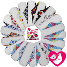 5PCS Reusable Waterproof Regular Flow Menstral Mama Cloth Pads Microfleece Inside Wholesale Selling