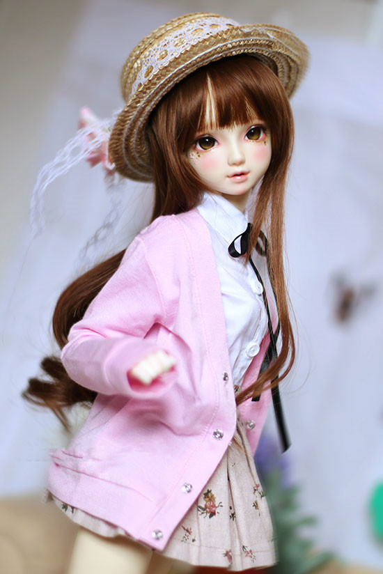 BJD doll colthes pink cardigan coat for 13 14 BJD DD SD MDD MSD SD17 Uncle SSDF doll size doll clothes