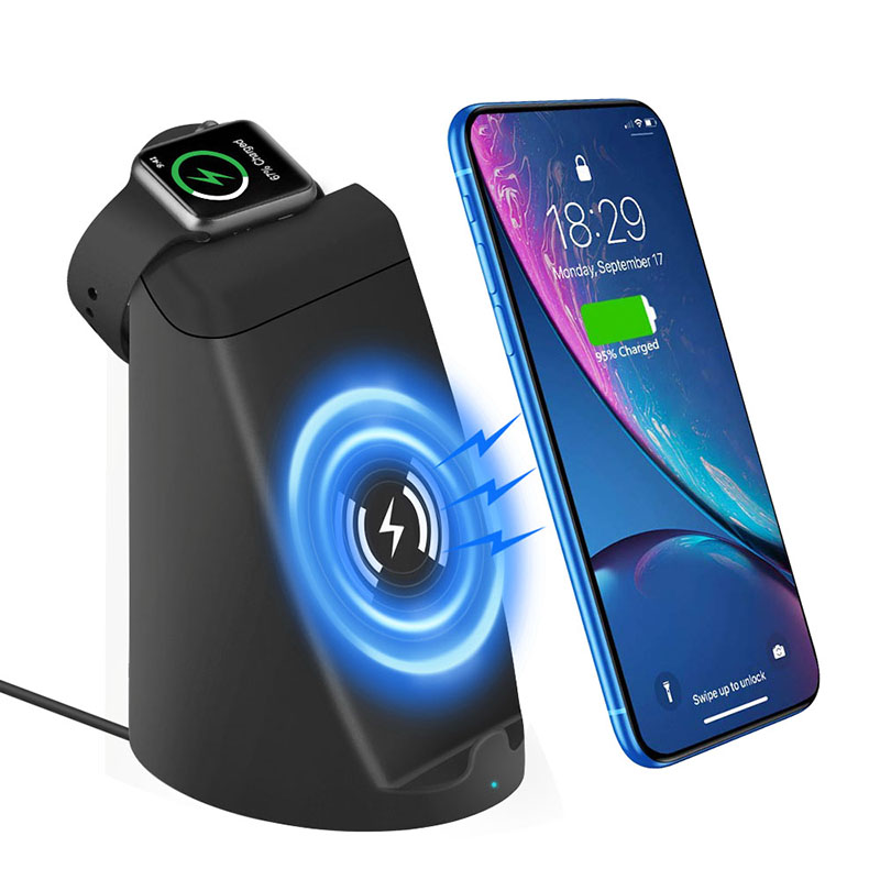 iCozzier 2 in 1 Dual Coil Fast Wireless Charging Stand Station for iPhone XS X 8 8p Galaxy S9 S8 etc Charger Holder i Watch Nik in Mobile Phone Chargers from Cellphones Telecommunications