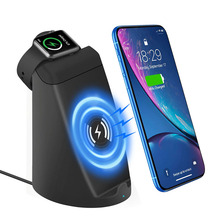 цены на iCozzier 2 in 1 Dual Coil Fast Wireless Charging Stand Station for iPhone XS/X/8/8p, Galaxy S9/S8 etc,Charger Holder i Watch/Nik  в интернет-магазинах