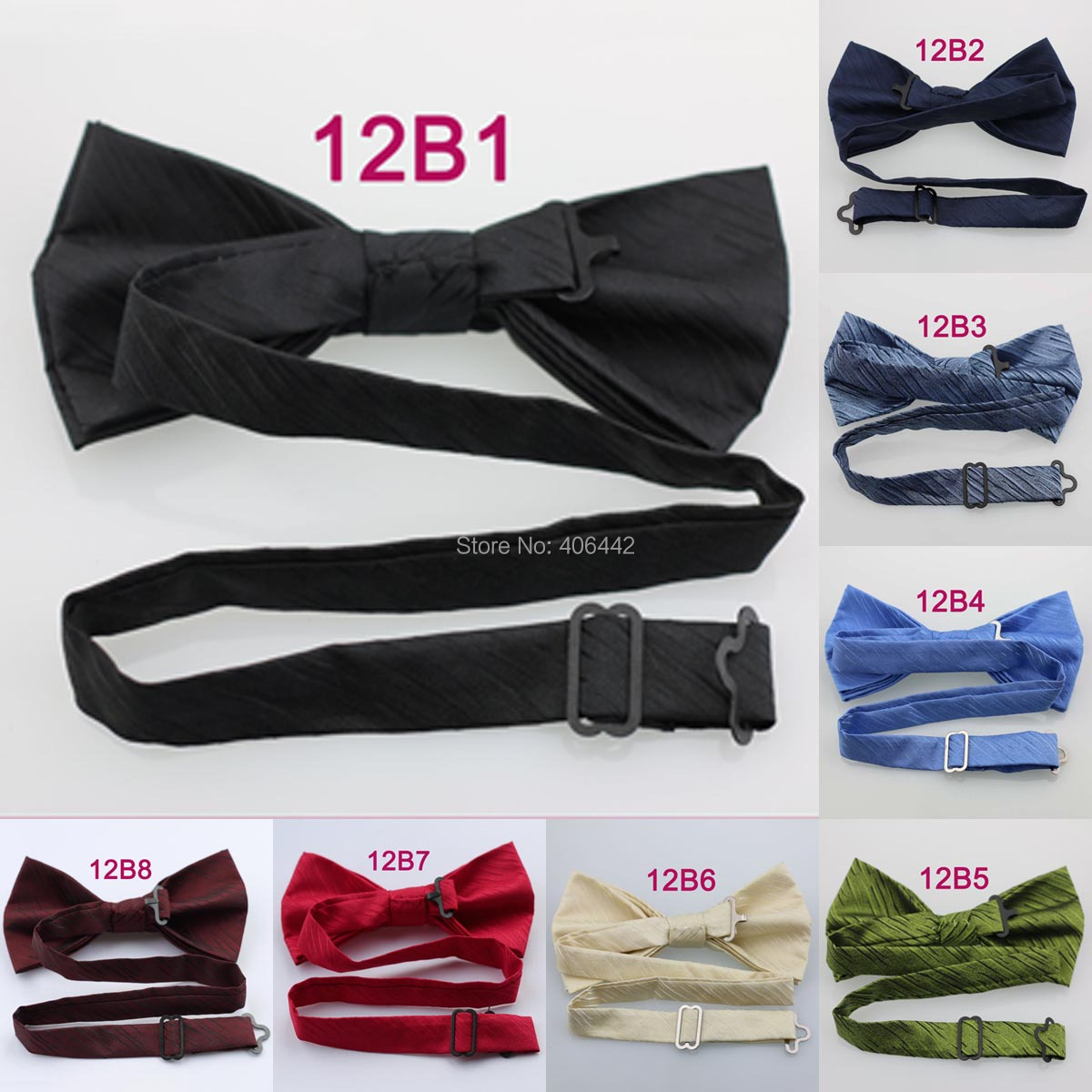 YIBEI Coachella Ties Jacquard Woven Burgundy Bowtie With Black Stripes Bow  Ties Tuxedo Double deck Adjustable Adults Butterfly-in Men s Ties    Handkerchiefs ... 4982c3af11f6