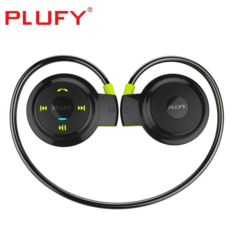 PLUFY L7 Écouteurs 400 Heures Longue Attente Casque Sans Fil Bluetooth CSR4.1 Écouteurs Musique Casque avec SD Carte Oreilles