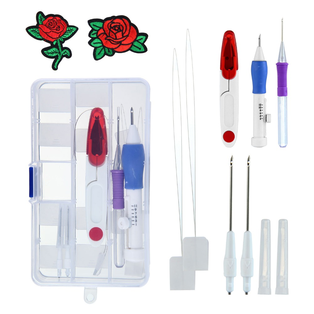 Conjunto de herramientas de aguja de punzón bordado mágico punzón ...