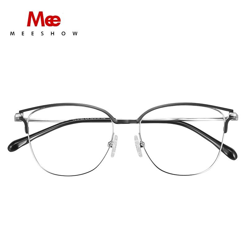 2019 Meeshow prescription lunettes titane alliage femmes lunettes oculos de grau feminino armacao lunettes vintage cadre nouveau - 3
