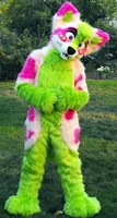 Beautiful Furry Fursuit Husky Dog Fox Mascot Costume Halloween Christmas Birthday Celebration Carnival Dress