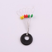 10Pcs/set Wholesale Colorful Rubber Oval Stopper Fishing Bobber Float Fishing Tackle
