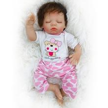 цена на OtardDolls Reborn Baby Dolls Lifelike Realistic Dolls Sleeping Girl with Puppy Clothes Soft Vinyl Children Gifts (Lovely Puppy)