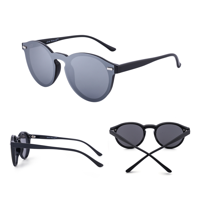 Jim Halo One Piece Polarized Rimless Mirror Reflective Circle Lens - Aksesori pakaian - Foto 5