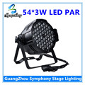 1Pcs  RGBW 54 * 3W LED PAR DMX control par led disco lights of professional DJ equipment