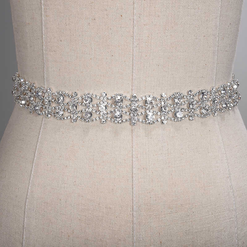 9cfcb1646a Handmade Crystal Wedding Belts Golden Silver Rhinestone Wedding Dress Belt  Formal Wedding Accessories Bridal Ribbon Sash Belt