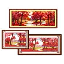 Eternal Love opports Kits de punto de cruz chinos, algodón ecológico estampado, 11ct, adornos navideños para el hogar
